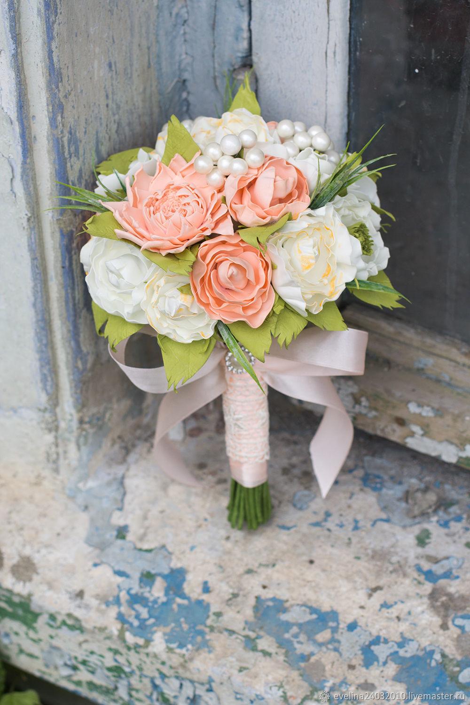 Свадебный букет, свадебный букет дублер, свадебный букет из фоамирана, Свадебные цветы, Сочи, Фото №1