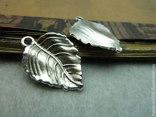 Для украшений ручной работы. Ярмарка Мастеров - ручная работа. Купить 10 шт металлические подвески старинное серебро Дерево листьев C5729. Handmade.