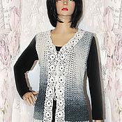 Одежда handmade. Livemaster - original item Knitted vest crochet Melange.. Handmade.