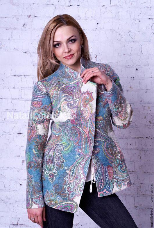 Пиджаки, жакеты ручной работы. Ярмарка Мастеров - ручная работа. Купить Жакет Босфор -войлок. Handmade. Абстрактный, одежда из войлока