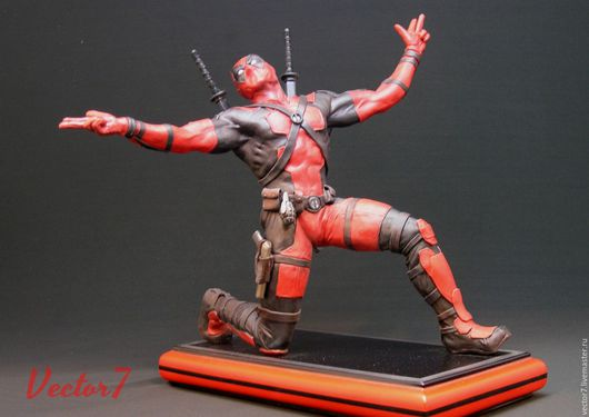 Человечки ручной работы. Ярмарка Мастеров - ручная работа. Купить Deadpool. Handmade. Deadpool, super sculpey