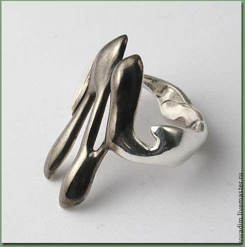Кольца ручной работы. Ярмарка Мастеров - ручная работа. Купить Кольцо из серии Абстракции 5. Handmade. Чёрно-белый, кольцо