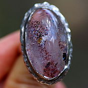 Украшения handmade. Livemaster - original item Ring with strawberry quartz