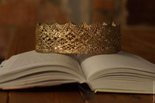 """Диадемы, обручи ручной работы. Ярмарка Мастеров - ручная работа. Купить """"Корона"""" для фотосессий. Handmade. Кружево, кружево ручной работы"""