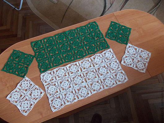 Текстиль, ковры ручной работы. Ярмарка Мастеров - ручная работа. Купить Комплект из 3 салфеток. Handmade. Кремовый, хлопок 100%
