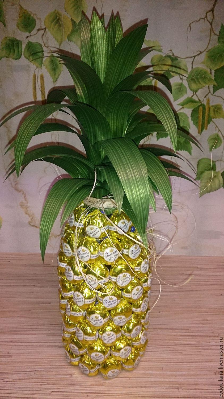 Поделки из конфет ананас своими руками 60