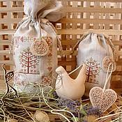 Для дома и интерьера ручной работы. Ярмарка Мастеров - ручная работа Мешочки для кухни мешочек с вышивкой Яблонька старого сада (63). Handmade.