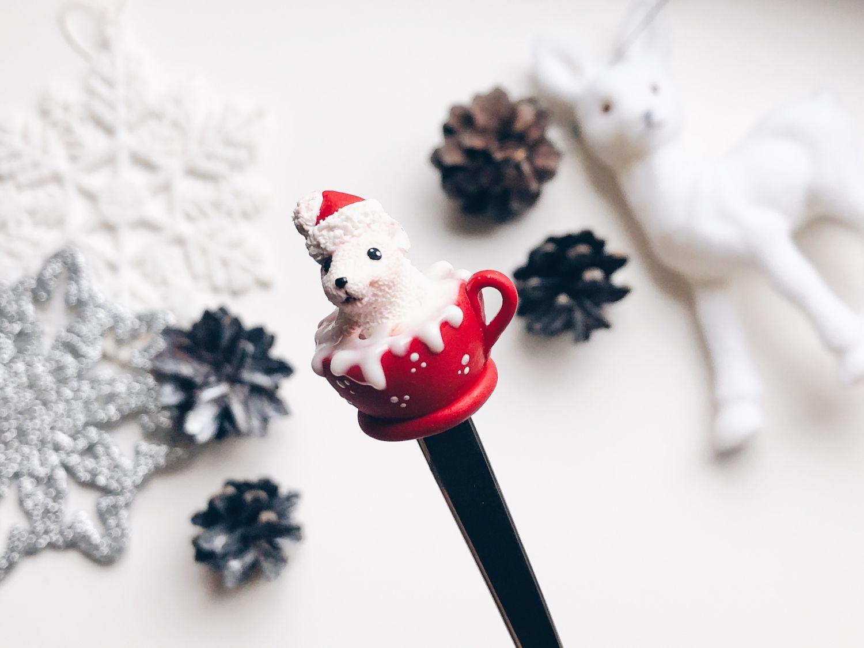 Мышка на ложке из полимерной глины подарок на Новый 2020 год Год крысы, Ложки, Санкт-Петербург,  Фото №1