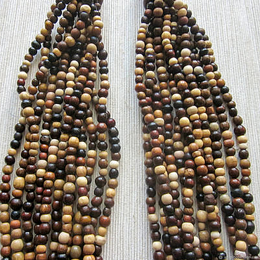 "Decorations handmade. Livemaster - original item Wooden multistrand necklace ""Beadsfall"". Handmade."