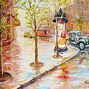 """Картины и панно ручной работы. Ярмарка Мастеров - ручная работа картина """"Ретро автомобиль 2"""". Handmade."""