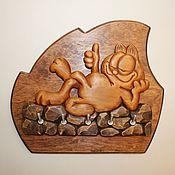 """Для дома и интерьера ручной работы. Ярмарка Мастеров - ручная работа Ключница """"Кот Гарфилд Лайк"""". Handmade."""