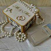 Свадебный салон handmade. Livemaster - original item Wooden box, wedding gift