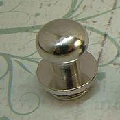 Материалы для творчества ручной работы. Ярмарка Мастеров - ручная работа Кабурная кнопка 810 никель. Handmade.