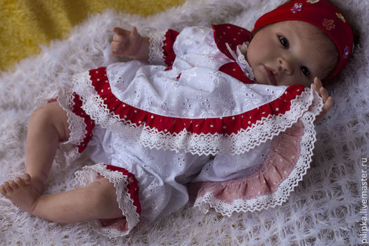 Куклы-младенцы и reborn ручной работы. Ярмарка Мастеров - ручная работа. Купить Алина 2. Handmade. Ярко-красный, генезис