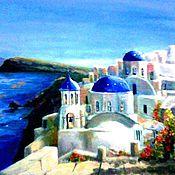 Картины и панно handmade. Livemaster - original item Santorini. Handmade.