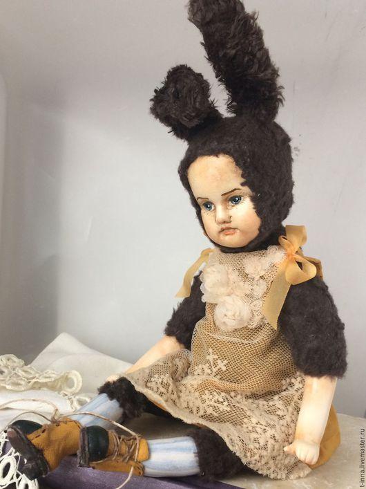 Коллекционные куклы ручной работы. Ярмарка Мастеров - ручная работа. Купить Раиса. Теддидолл. Handmade. Коричневый, кукла интерьерная, батист