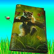 Канцелярские товары ручной работы. Ярмарка Мастеров - ручная работа Обложка на паспорт Коты. Handmade.