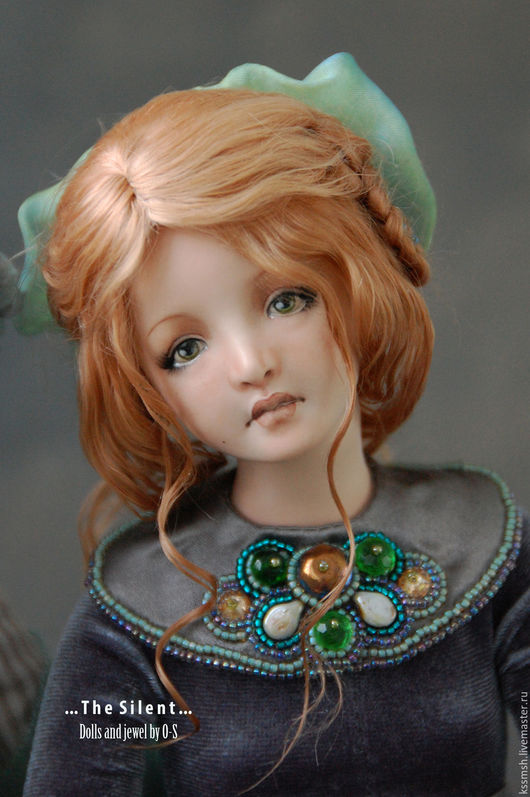 Коллекционные куклы ручной работы. Ярмарка Мастеров - ручная работа. Купить Фарфоровая шарнирная кукла - Инфанта. Handmade. Морская волна