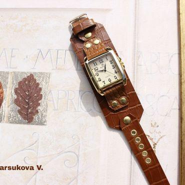 Украшения ручной работы. Ярмарка Мастеров - ручная работа Часы Рыжие под золото. Handmade.