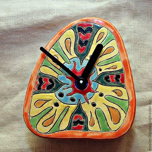 Часы для дома ручной работы. Ярмарка Мастеров - ручная работа. Купить Часики керамические. Handmade. Часы, керамика