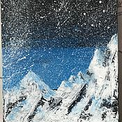 Картины и панно handmade. Livemaster - original item The picture with the mountain landscape on the canvas on the stretcher