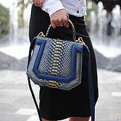 Сумки и аксессуары handmade. Livemaster - original item Silivia Python leather handbag. Handmade.