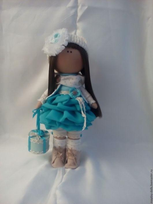 Куклы тыквоголовки ручной работы. Ярмарка Мастеров - ручная работа. Купить Интерьерная текстильная кукла большеножка Лерочка. Handmade. Бирюзовый