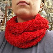 Аксессуары handmade. Livemaster - original item Scarf-Snood red. Handmade.