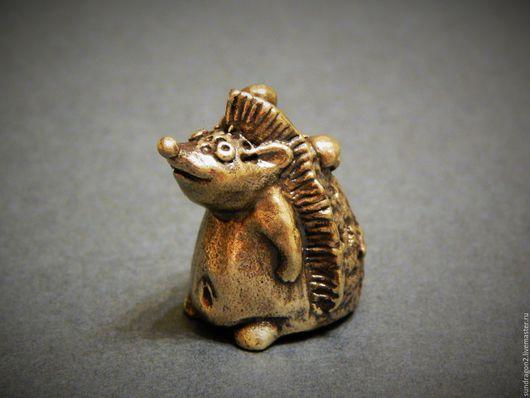 """Миниатюрные модели ручной работы. Ярмарка Мастеров - ручная работа. Купить наперсток """"Ежик"""" бронза. Handmade. Еж, наперсток в коллекцию"""