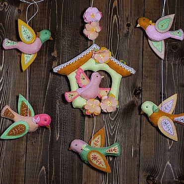 Куклы и игрушки ручной работы. Ярмарка Мастеров - ручная работа Птички из фетра. Handmade.