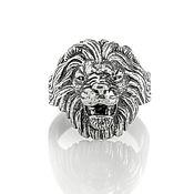Украшения handmade. Livemaster - original item Ring lion cast of silver (two options). Handmade.