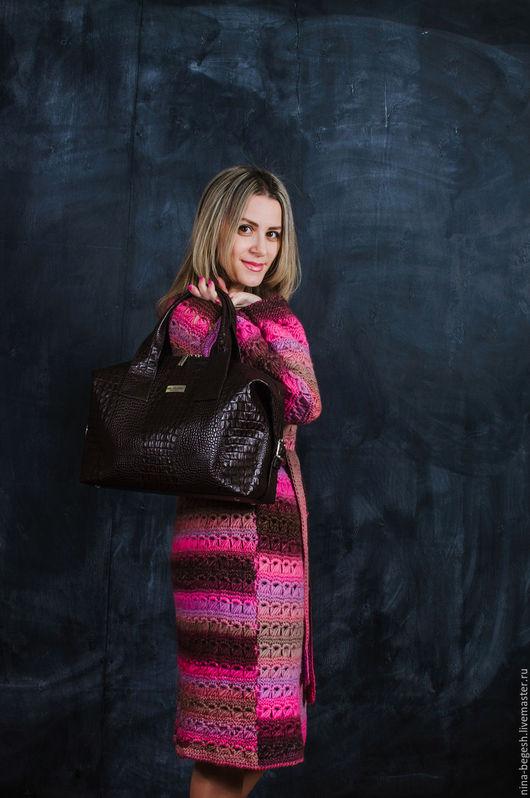 """Женские сумки ручной работы. Ярмарка Мастеров - ручная работа. Купить Сумка-саквояж """"Шоколад №2"""", женская сумка, коричневая сумка. Handmade."""