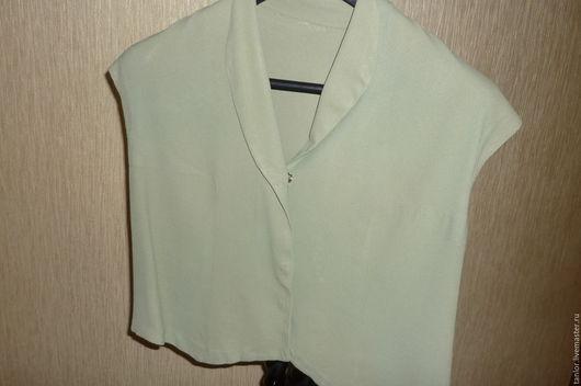 Одежда. Ярмарка Мастеров - ручная работа. Купить Кофточка, жилетка 50-х годов.. Handmade. Оливковый, винтаж, креп