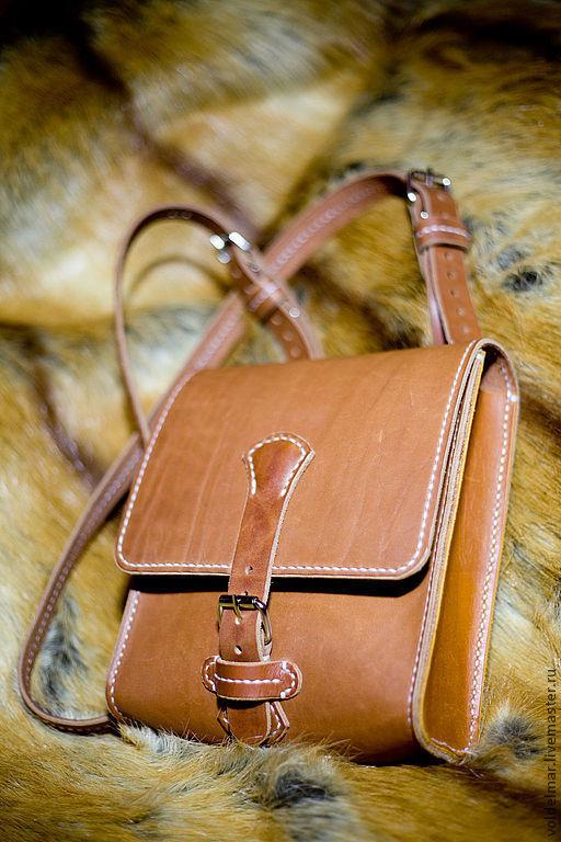 Мужские сумки ручной работы. Ярмарка Мастеров - ручная работа. Купить Кожаная сумка-планшет ручной работы.. Handmade. Рыжий