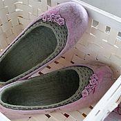 """Обувь ручной работы. Ярмарка Мастеров - ручная работа """"Розовые сны"""" валяные тапочки. Handmade."""