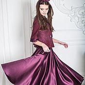 Одежда handmade. Livemaster - original item Suit Bliss: felted jacket and skirt made of satin. Handmade.
