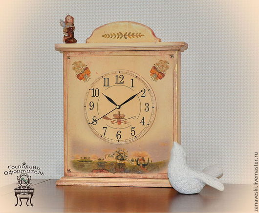 """Часы для дома ручной работы. Ярмарка Мастеров - ручная работа. Купить Часы дачные """"Маргаритки"""". Handmade. Часы, кантри, детская"""