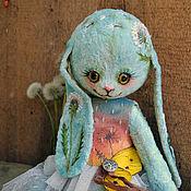 """Куклы и игрушки ручной работы. Ярмарка Мастеров - ручная работа Плюшевая зайка """"Одуванчик"""". Handmade."""