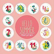 Подарки к праздникам handmade. Livemaster - original item Stickers for baby photo