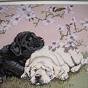"""Картины и панно ручной работы. Ярмарка Мастеров - ручная работа вышитая картина.  """" Весенняя песнь"""". Handmade."""