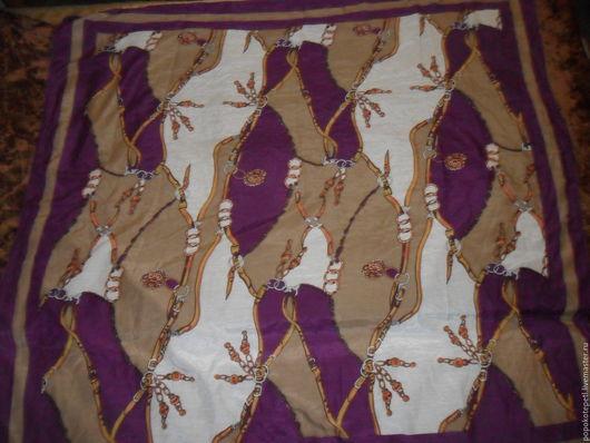 Винтажная одежда и аксессуары. Ярмарка Мастеров - ручная работа. Купить Большой платок,батист с шелком,Германия. Handmade. Комбинированный