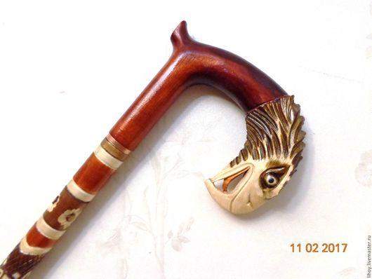 """Подарки для мужчин, ручной работы. Ярмарка Мастеров - ручная работа. Купить Трость ручной работы """"Орел"""". Handmade. Трость, резная"""