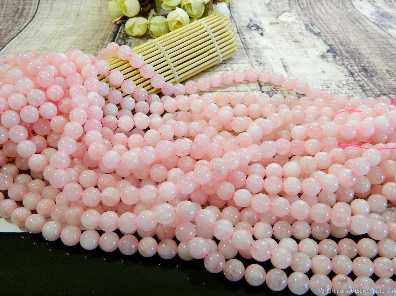 rose quartz 10 mm, Beads1, Saratov,  Фото №1