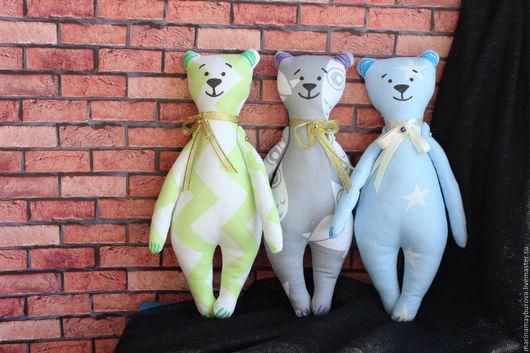 Игрушки животные, ручной работы. Ярмарка Мастеров - ручная работа. Купить Медведи. Handmade. Комбинированный, медведь, медвежата, текстильный мишка