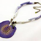 Украшения ручной работы. Ярмарка Мастеров - ручная работа Кулон Африканский цветок. Handmade.