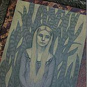 Картины и панно ручной работы. Ярмарка Мастеров - ручная работа Фантазийный сюжет с девушкой портрет по фотографии в таком же стиле. Handmade.