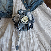 Свадебный салон ручной работы. Ярмарка Мастеров - ручная работа Букет невесты в джинсовом стиле. Handmade.
