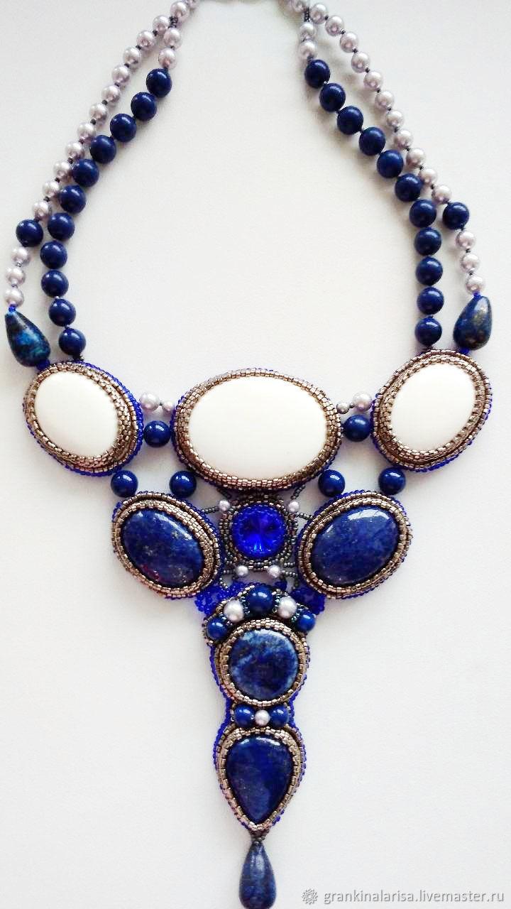 Necklace with natural stones Blue dreams, Wedding necklace, Ekaterinburg,  Фото №1