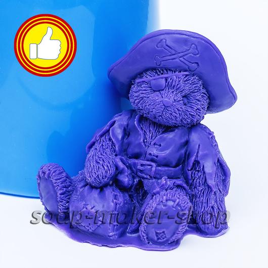 Материалы для косметики ручной работы. Ярмарка Мастеров - ручная работа. Купить Силиконовая форма для мыла «Тедди пират 3D». Handmade.