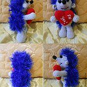 Подарки к праздникам ручной работы. Ярмарка Мастеров - ручная работа Ёжик с сердечком. Handmade.